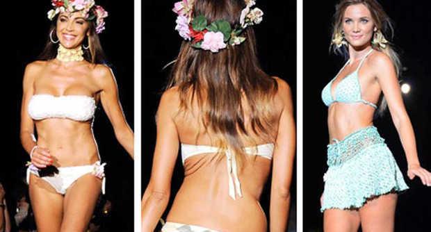 Cecilia Capriotti e Fiammetta Cicogna sirenette in bikini per la moda mare Agogoa